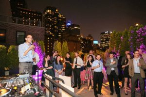 Corporate event at a rooftop event in NYC
