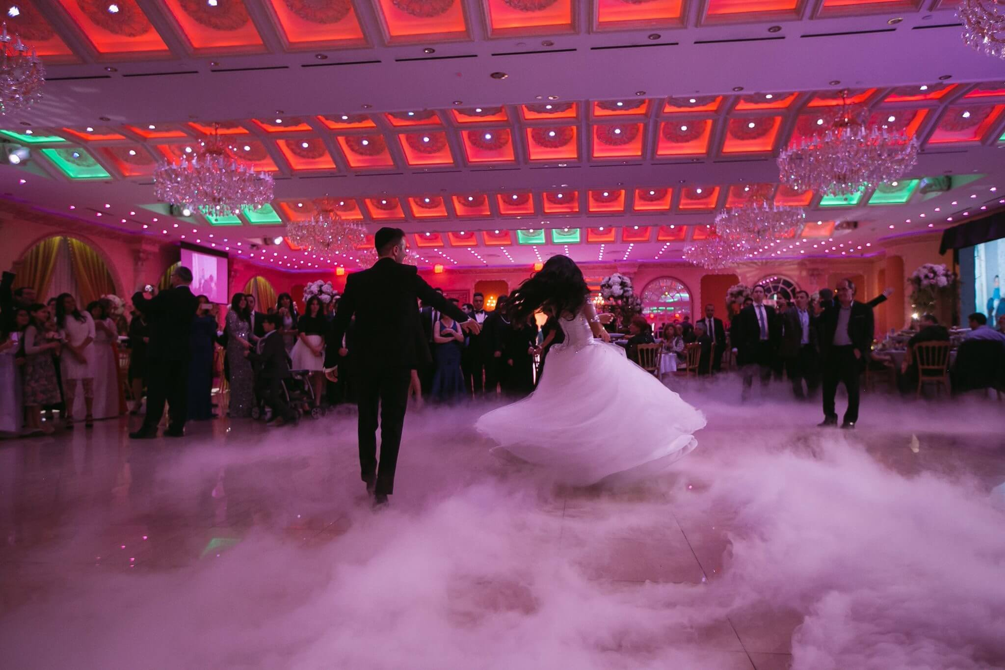 Smoke Machine for bride and groom first dance rental