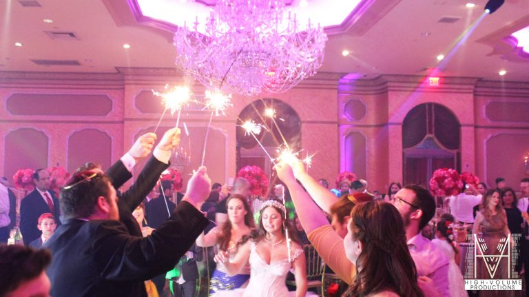 Sparklers on the dancefloor