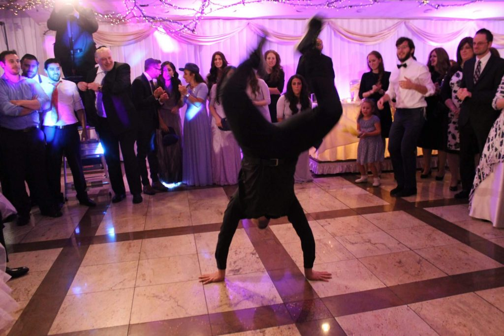 Surprised the Bride and groom with professional breakdancers