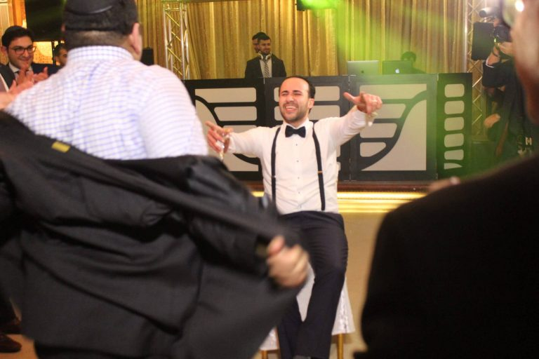 The groom started getting tired, so we gave him a chair on the dancefloor