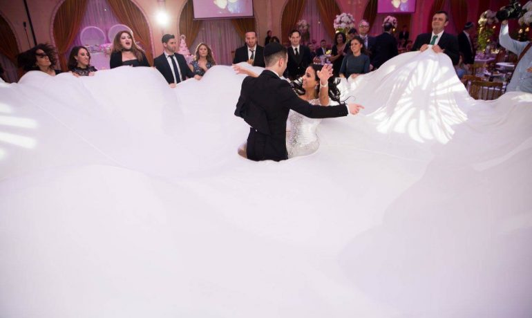 Parachute Dance Wedding Jewish DJ NYC