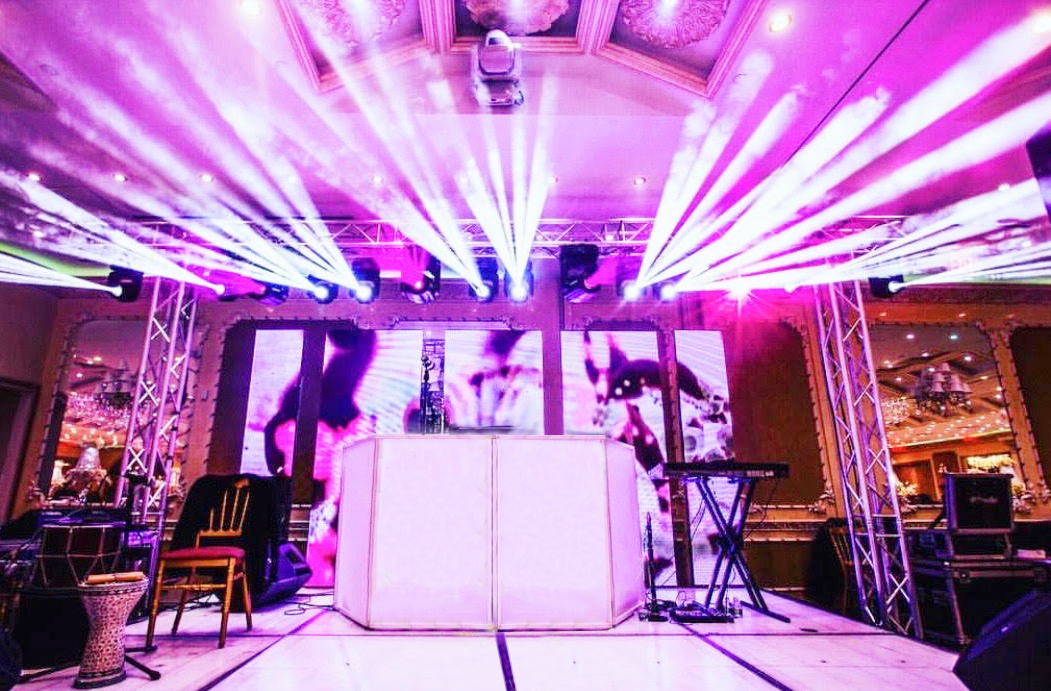 DJ and big Lighting production at Da Mikele Illagio Queens NY