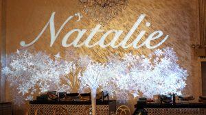 Natalie Gobo Name Monogram Snow Theme