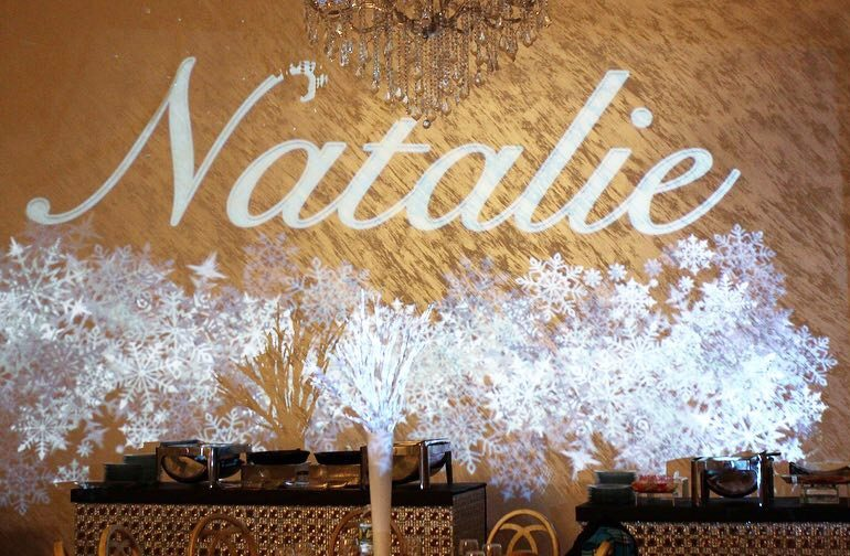 Natalie Gobo Name Monogram Snow Theme